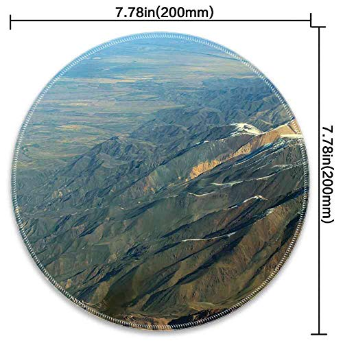 Mouse Pad Round Mouse Pad Andes Mountains South America Chile Argentina #472334 Series 200mm3mm