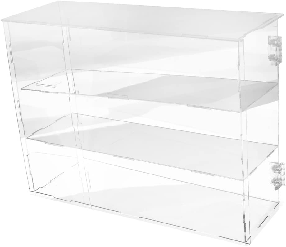 Ogni Strato Alto 12 cm sharprepublic Vetrina Acrilica Trasparente per Modello Mini Figure 24x12x36cm