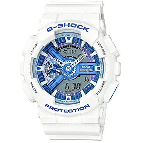 G-Shock GA-110WB-7A White and Blue Series Watches - White/Blue / 1 Size - White G Shock Watches For Women