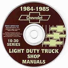 Amazon gm chevy chevrolet truck pickup van books 1984 1985 chevy 10 30 pickup light truck repair shop service manual cd blazer suburban ton ton 1 ton chevy c k g p fandeluxe Images