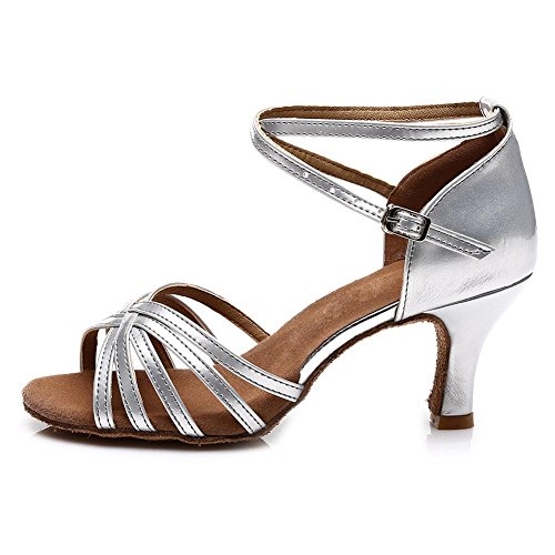 Buy silver ballroom shoes for women