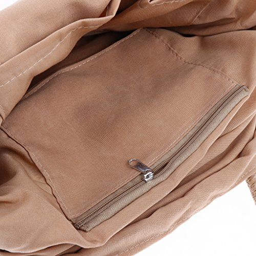 described Travel Tote Womens Khaki Khaki Beach Drawstring Bag Straw Handbag Fenteer Bowtie Bag as Shoulder 07qw8gnxa
