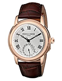 Frederique Constant Men's FC-710MC4H4 Maxime Dark Brown Leather Strap Watch