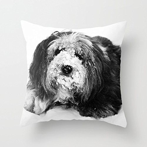 Dogs Throw Pillow Case ,best For Dining Room,family,kids Girls,bf,wedding,boys 18 X 18 Inches / 45 By 45 Cm(double Sides)