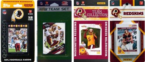 NFL Washington Redskins Four Different Licensed Trading Card Team (Washington Redskins Nfl Trading Cards)
