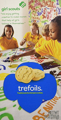Girl Scout Cookies - Trefoils Traditional Shortbread - 1 Box of 40 Cookies