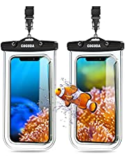 """TEUMI Waterproof Phone Pouch, 2 Pack Underwater Dry Bag IPX8 Waterproof Phone Case Compatible with iPhone 13 Pro Max/12 Mini/11 Pro/XS/XR/8 Plus, Galaxy S21/S20 Up to 7"""" for Beach, Pool, Kayak"""
