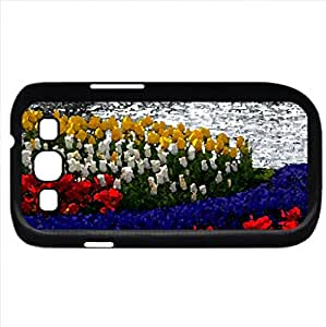 SPRING (Flowers Series) Watercolor style - Case Cover For Samsung Galaxy S3 i9300 (Black)