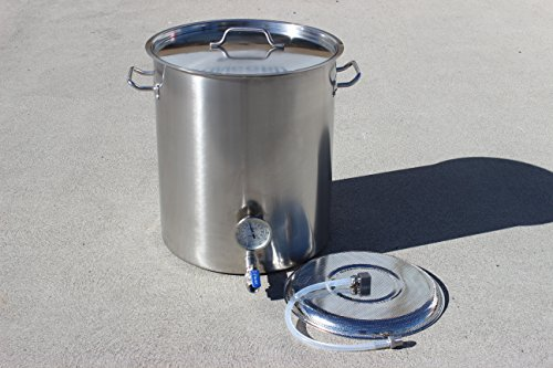 CONCORD-Stainless-Steel-Home-Brew-Kettle-Triply-Bottom-Mash-Tun-w-2-Welded-On-Couplers