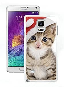 Recommend Design Christmas Cat White Samsung Galaxy Note 4 Case 24