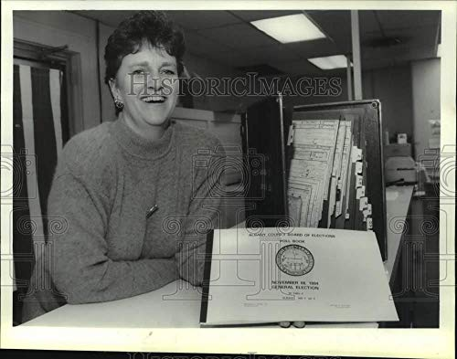 Vintage Photos 1994 Press Photo Kearen A. Shea, Albany County, New York Board of Elections from Vintage Photos