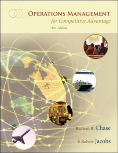 Operations Management for Competitive Advantage with Student DVD 11th (eleventh) Edition by Chase, Richard B, Jacobs, F. Robert, Aquilano, Nicholas J published by McGraw-Hill Higher Education (2005)