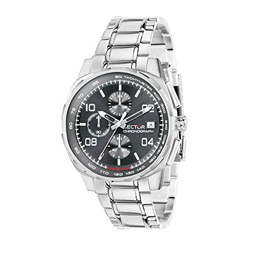 (SECTOR Men's 890 Analog-Quartz Sport Watch with Stainless-Steel Strap, Silver, 18 (Model: R3273803001))