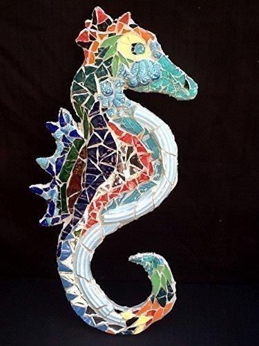 Seahorse Mosaic Wall D Cor   Beach Art