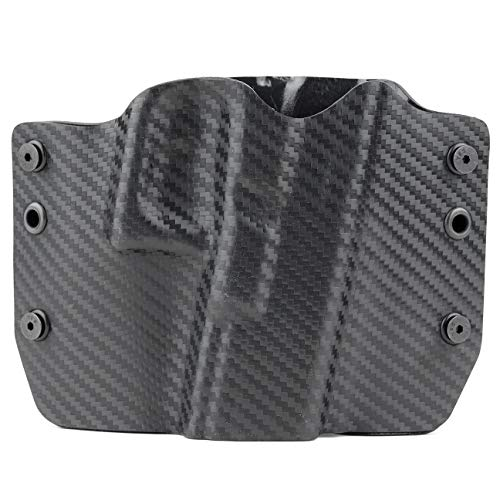 Black Carbon Fiber Kydex OWB Holsters for More Than 200 Different Handguns. Left & Right Versions Plus Speed Clips Available.