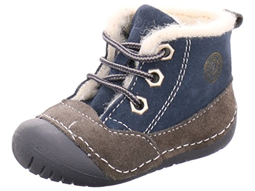 Primigi 4004-100 - Zapatos primeros pasos de Piel para niño Azul - Blau-Kombi