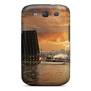 Forever Collectibles Drawbridge At A Beautiful Sunset Hard Snap-on Galaxy S3 Case by lolosakes