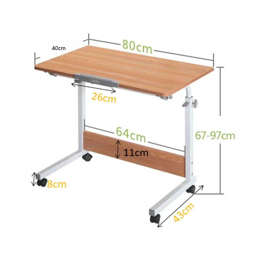 Confortable Bureau d'ordinateur portable simple Bureau de lit Table basse de bureau Dortoir bureau d'étude de chevet