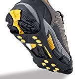 Search : OuterStar Ice & Snow Grips Over Shoe/Boot Traction Cleat Rubber Spikes Anti Slip 10-Stud Crampons Slip-on Stretch Footwear S/M/L/X-L(Extra 10 Studs)