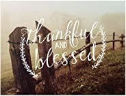 """Jada Venia 9.75""""X7.75"""" Fence Line Thankful Blessed Light"""