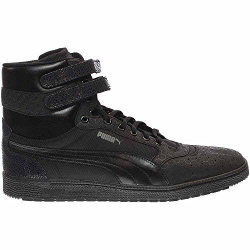 361868-01 MEN SKY II HI MONO CRACKLE PUMA BLACK/DARK SHADOW (Shadow Dark Black Puma)