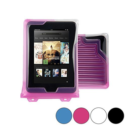 DiCAPac WP-T7 Universal Waterproof Case for Sharp Aquos Pad SH-06F in Pink...