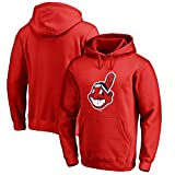 Majestic Cleveland Indians Youth Size Large (14/16) Hooded Sweatshirt Pullover - Red
