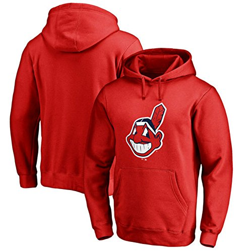 Majestic Cleveland Indians Youth Size Medium (10/12) Hooded Sweatshirt Pullover - Red