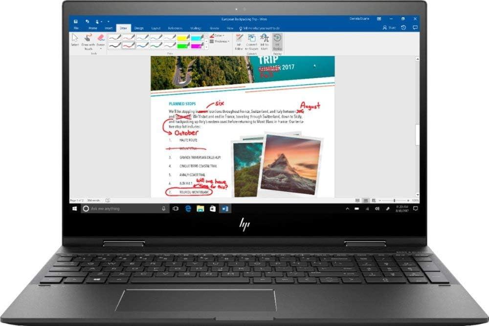 2020 Premium HP Envy x360 15.6 Inch FHD Touchscreen Laptop (AMD Ryzen 5 2500U to 3.6 GHz, 8GB RAM, 256GB SSD, WiFi, Bluetooth, No DVD, B&O Play, Backlit Keyboard, Windows 10)