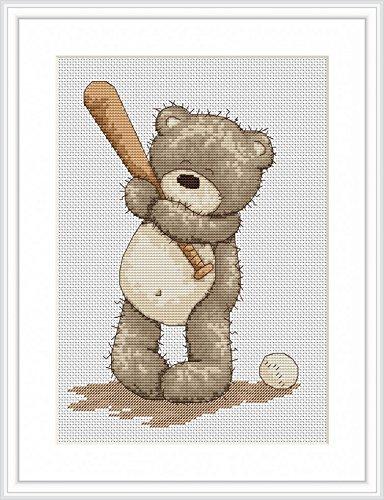 Luca-S Counted Cross Stitch Kit Baseball Bruno