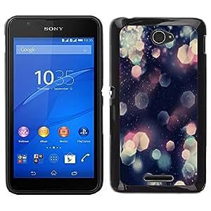 Sony Xperia E4 Único Patrón Plástico Duro Fundas Cover Cubre Hard Case Cover - Glitter Hexagon Pattern Shining Pink Art