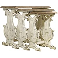 Hooker Sanctuary 3 Piece Nesting Table Set in Chalky White