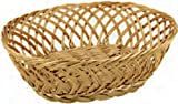 Paderno World Cuisine Oval Polyrattan Bread Basket, 10-5/8-Inch by 7-7/8-Inch