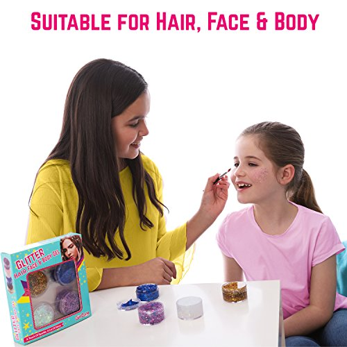 GirlZone GIFTS FOR GIRLS: Face, Hair & Body Cosmetic Glitter Makeup. Great Gift, Birthday Present Idea For Girls 4 5 6 7 8 9 10 years old plus. by GirlZone (Image #1)
