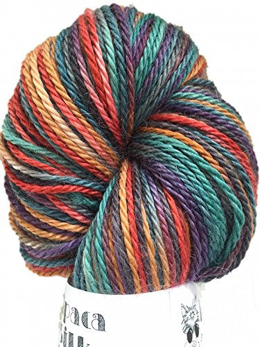Hand Dyed Alpaca Silk Yarn, Hand Painted: Royal, Dk Weight, 100 Grams, 245 Yards, 70/30 Baby ()