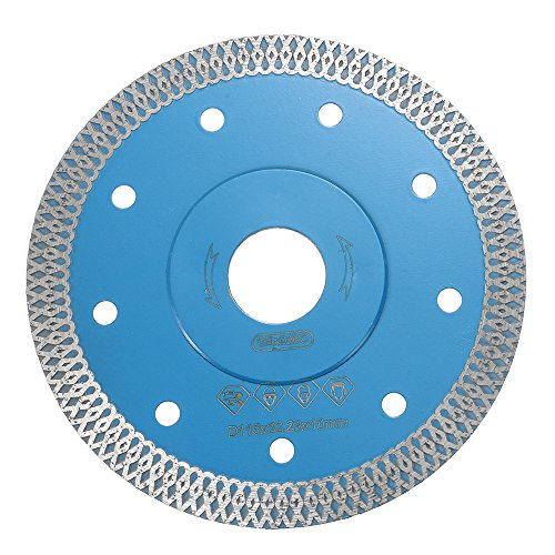 CoCocina 115mm Porcelain Tile Turbo Thin Diamond Dry Cutting Disc Saw Blade Grinder Wheel Disc - 115mm