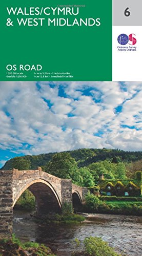 Wales & West Midlands (OS Road 6) (OS Road Map)