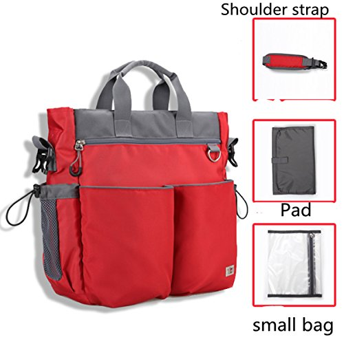 BigForest Multifunction 3 pieces in 1 set Mummy Travel shoulder Bag Tote Handbag Baby Diaper Nappy Changing Bag Coffee