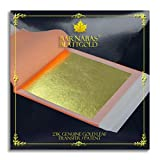 Genuine Gold Leaf Sheets 23k - by Barnabas Blattgold - 3.4 inches - 25 Sheets Booklet - Transfer Patent Leaf