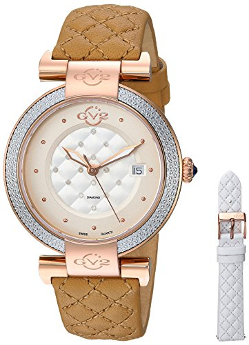 GV2-by-Gevril-Womens-Berletta-Swiss-Quartz-Stainless-Steel-and-Leather-Casual-Watch-ColorGold-Toned-Model-1507
