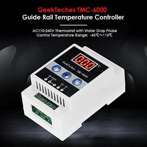 Finder 7T8100002403PAS Termostato de panel 1 contacto 10 A NC montaje en carril de 35 mm84 x 18 x 47 cm color gris