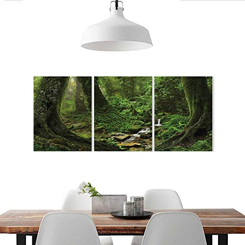 (Auraise-home Triptych Art Set Tropical Jungle Decorate Stickers for Wall)