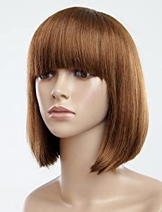 Amazon.com: Fashion Hair Full Bang Bobo Short Straight