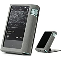 Astell&Kern AK70 AK 70 Hand Crafted MITER PU Leather Case Cover [Patented Stand Case] astell&kern leather case ak70 case (Gray)