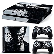 PS4 Vinyl Skin Stickers Joker Smile Protective Cover Decal Set for PlayStation 4 Console + Controllers-0435