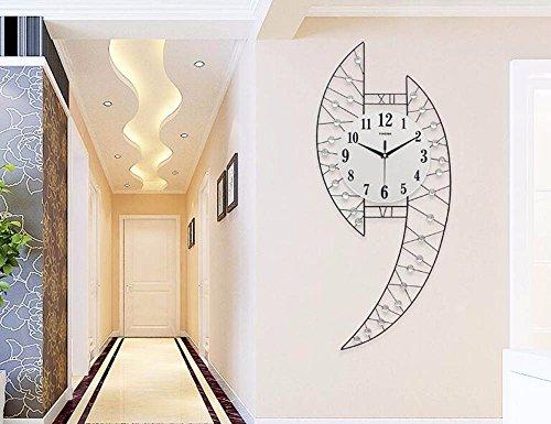 SUNQIAN-Living room modern minimalist creative personality clock watch watch quiet bedroom quartz clock by SUNQIAN