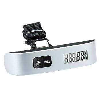 Kobwa (TM) colgar portátil Digital equipaje escala peso Gadget maleta (plata negro) con de Kobwa llavero: Amazon.es: Bricolaje y herramientas