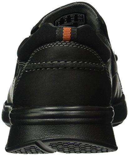 Clarks Cotrell Hombre Negro black Oily Lea Mocasines Para Step xOB6x1Sq