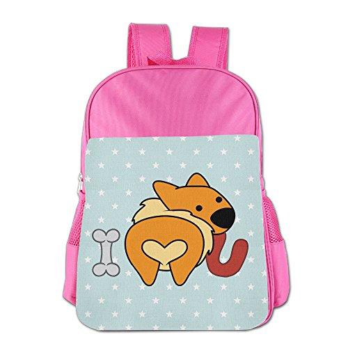 Cute Kawayi Corgi Love Unisex Classic School Rucksack Travel Backpack