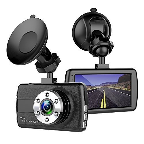 ShiRui Mini Car Dash Cam, 3.0' LCD Full HD 1080P 170 Degree Wide Angle Car Dashboard Camera Recorder, Car Blackbox DVR Vehicle Video Recorder Dash Cam for car with G-Sensor, Motion Detection, WDR